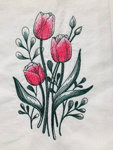 Load image into Gallery viewer, Tulips Blooms Springtime Dish Towel