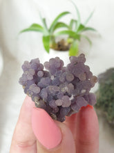 Load image into Gallery viewer, Cute sparkly Grape Agate crystal specimen