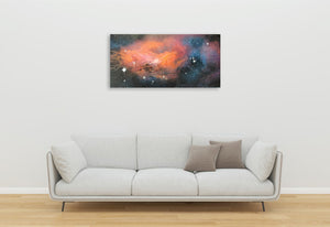 Acrylic/Oil Original Painting: 'Sunset in Orion' boxed canvas ready to hang