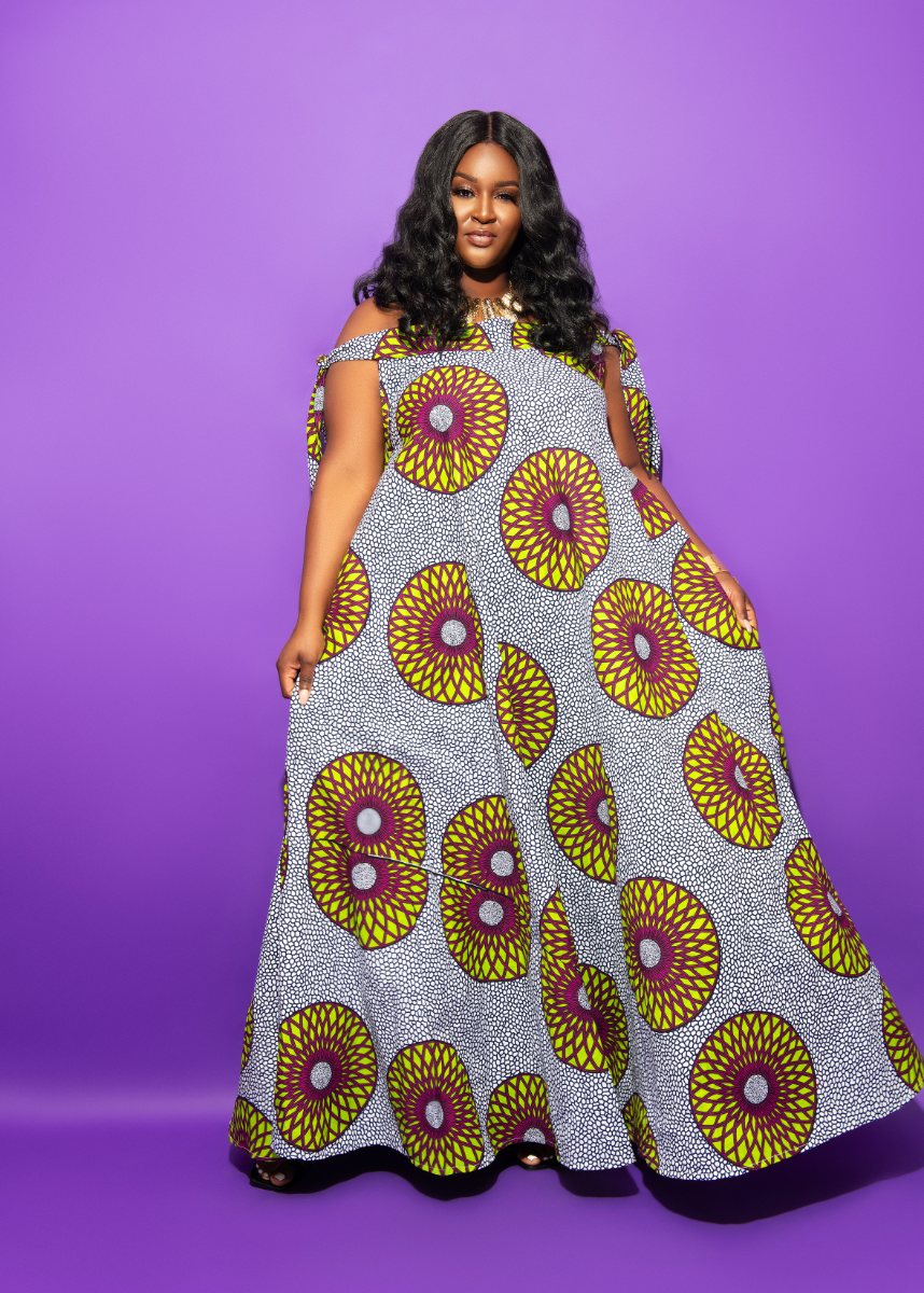 Orisa Off the shoulder maxi