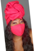 Solid Scarf mask set