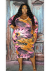 Tye Dye Fleece Bodycon