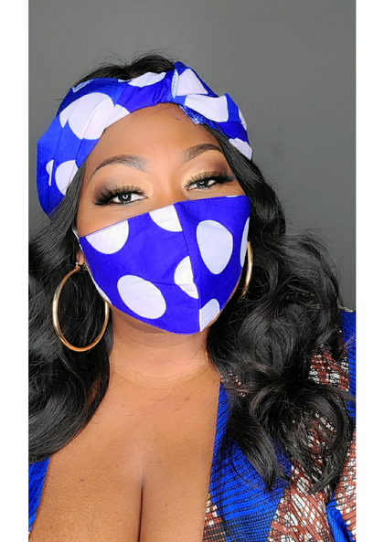 Head wrap with mask