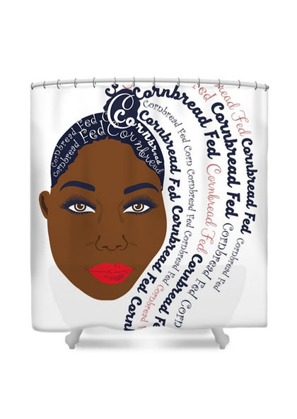 She's Cornbread Fed Shower Curtain