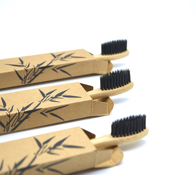 Charcoal Infused Bamboo Toothbrush - ZHERO BOX