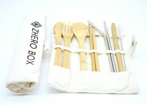 Travel Bamboo Cutlery Set - ZHERO BOX
