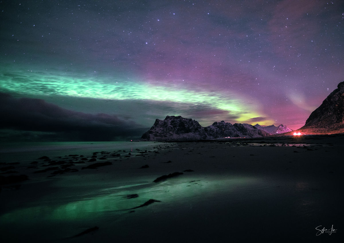 The Lonely Shore - Northern Lights Lofoten