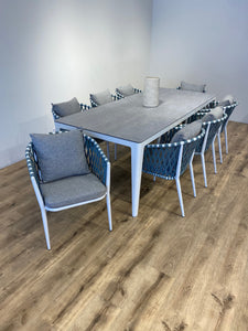 Blue Diamond Dining Set for 8