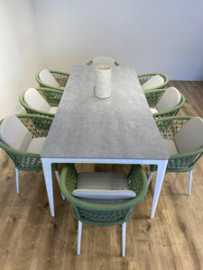 Green Fishnet dining Set for 8