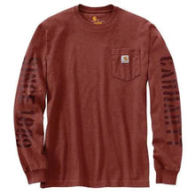 Load image into Gallery viewer, Carhartt Signature Sleeve Double Logo Long Sleeve Pocket Shirt