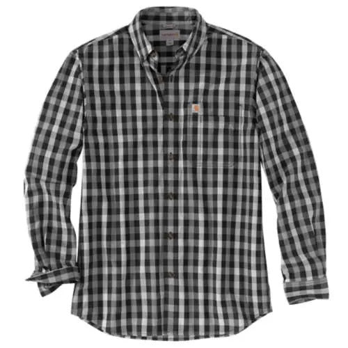 Carhartt Essential Plaid Button Down Long Sleeve Shirt