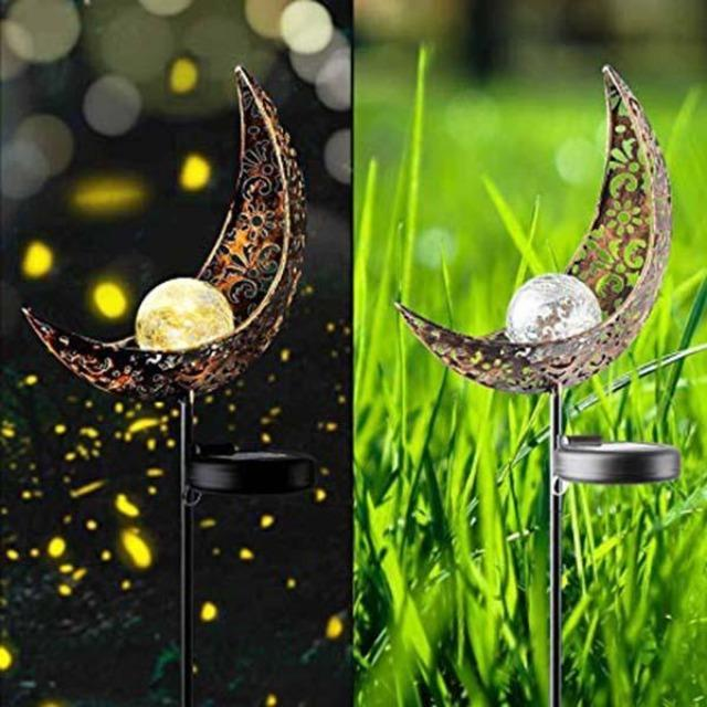 Marisol- Solar Moon Crackle Garden Decor Light - Silky decor