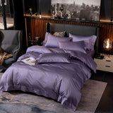 Black Egyptian Cotton Duvet Set 700 Thread Count