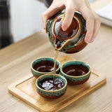 Paroy - Portable Compact Ceramic Tea Set - Silky decor