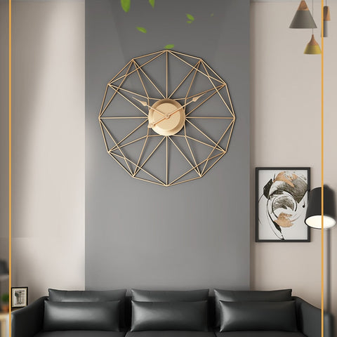 Modern Design Iron Wall-Mounted Clock