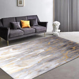 Kiera - Golden Powder Marble Pattern Carpet