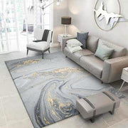 Kiera - Golden Powder Marble Pattern Carpet - Silky decor