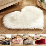 Maya - Heart Shape Fluffy Carpet - Silky decor