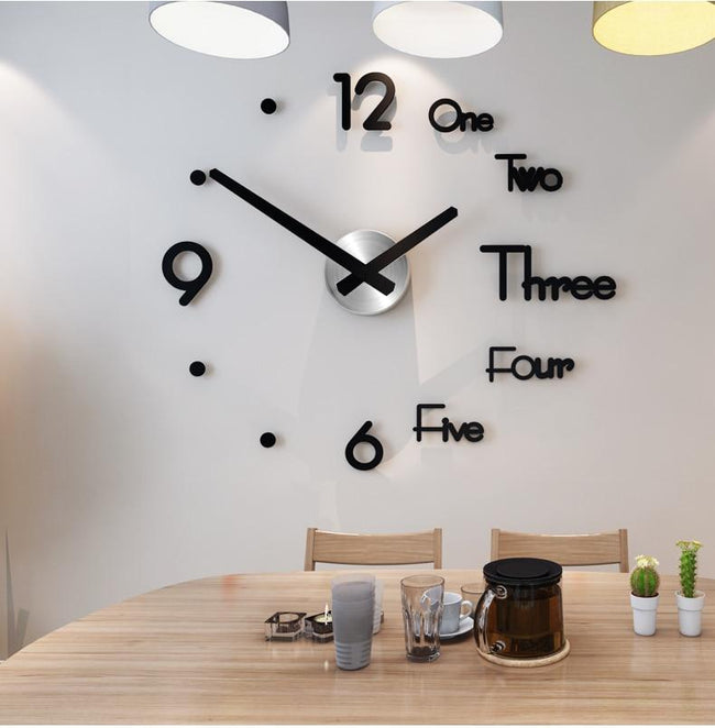 Creative 3D DIY Wall Clock - Silky decor