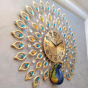 Tiboy - Luxury Peacock 3D Wall Clock - Silky decor