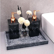 Gamela - Marble Texture Bathroom Storage Tray - Silky decor