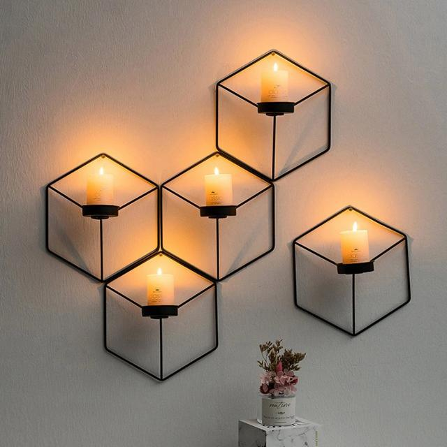Elise - 3D Wall Hanging Candlestick Holder