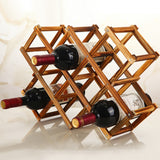 Foldable Wooden Wine Bottle Rack