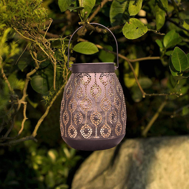 Azalea - Outdoor Hanging Solar Lantern - Silky decor