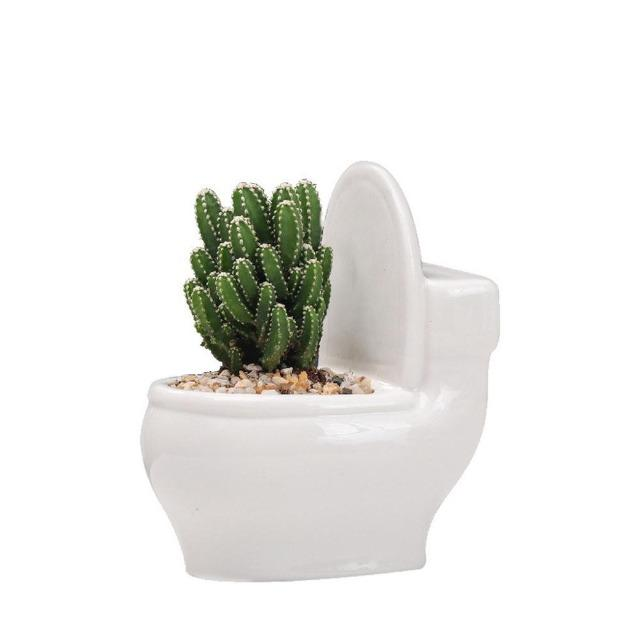 Bernadette - White Ceramic Flower Planter