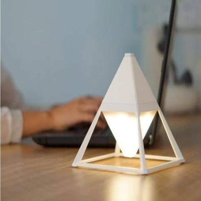 Paak - Dimmable Pyramid Bedside Lamp - Silky decor