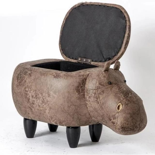 Dondi - Beautiful Hippo Storage Stool