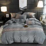 Tawney - Velvet Duvet Cover Set - Silky decor