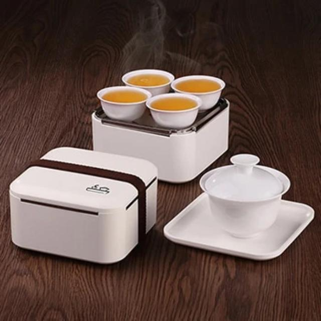Ifeoma - Creative Portable Ceramic Tea Set - Silky decor