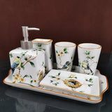 CERAMIC BATHROOM ACCESSORIES SET - Silky decor