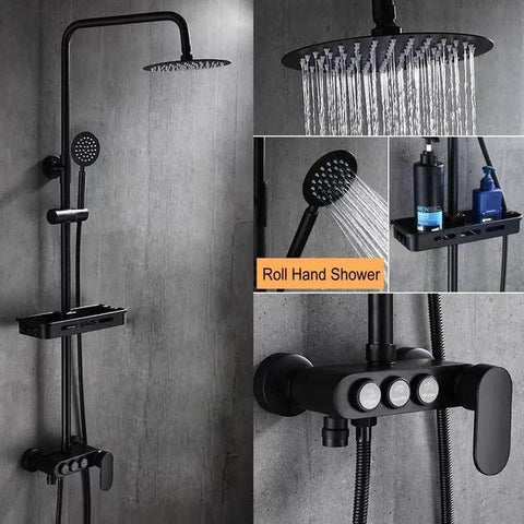 Calithea - Modern Matte Brass Shower Set