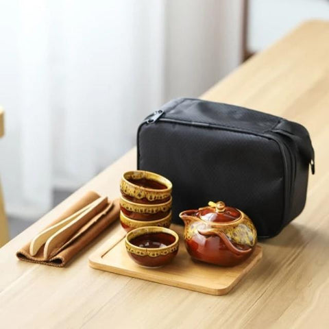 Paroy - Portable Compact Ceramic Tea Set