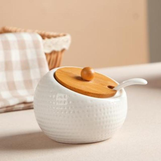 Portia - Seasoning Porcelain Kitchen Jar - Silky decor
