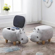 Dondi - Beautiful Hippo Storage Stool - Silky decor