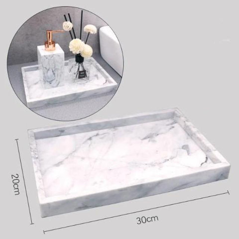 Gamela - Marble Texture Bathroom Storage Tray