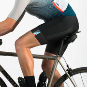 Black cycling bib shorts on a male model.