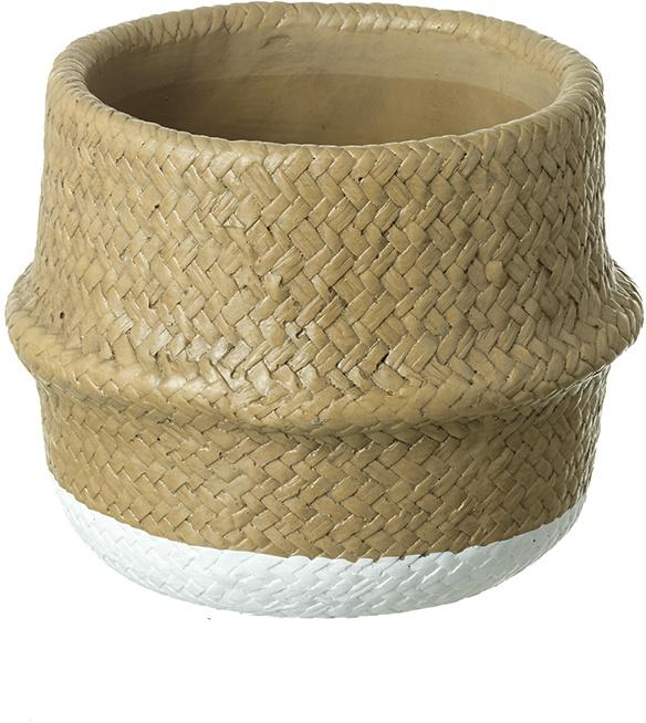 Wicker Effect Plant Pot