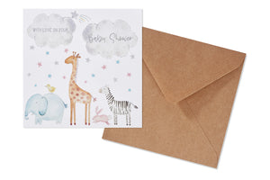 Baby Shower Animal Card