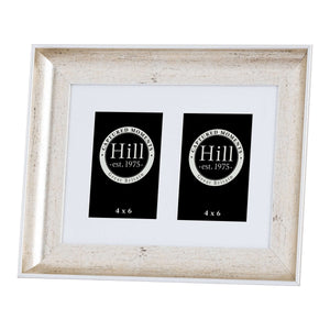 Silver Crackled Effect Photo Frame