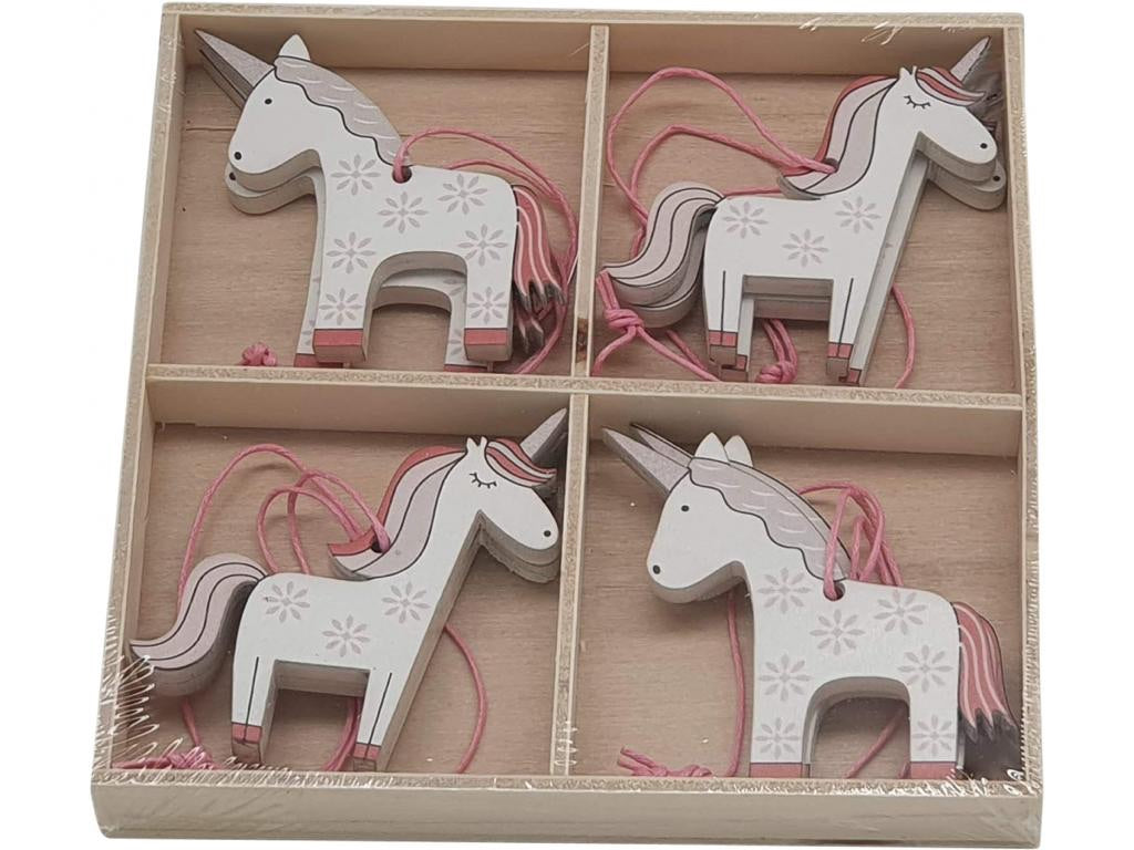 Hanging Wooden Unicorns