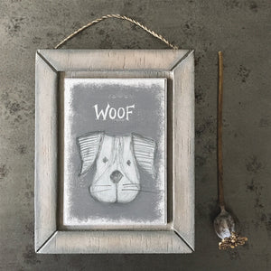 Woof Wooden Picture