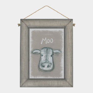 Moo Wooden Picture