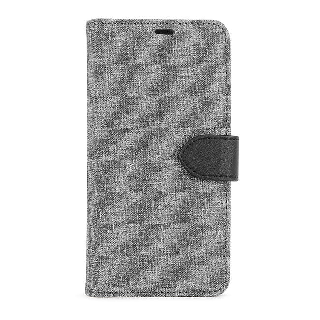Blu Element - 2 in 1 Folio Case Gray/Black for iPhone 12/12 Pro