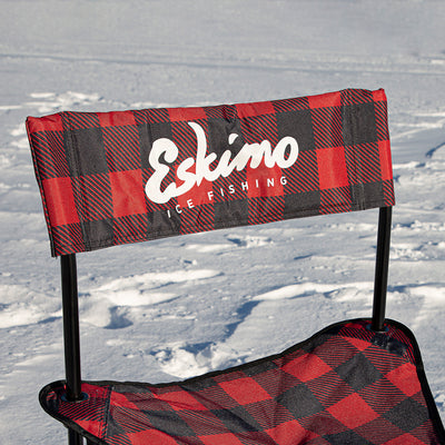 Plaid Folding Ice Chair