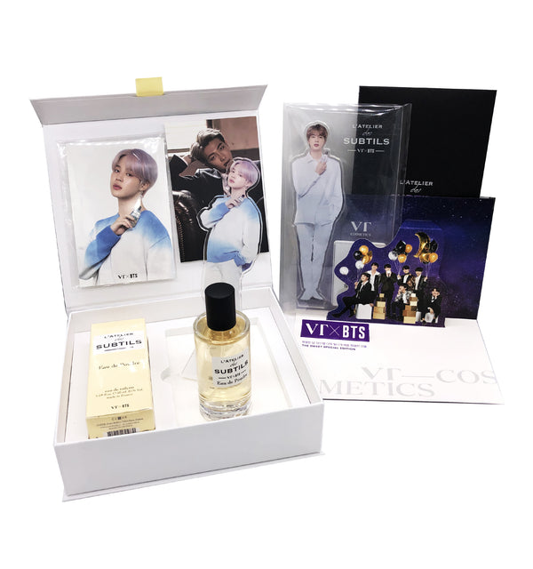 VT X BTS L'ATELIER Perfume 50ml MUSK - V (15 BTS Photo Cards and Pop up Postcard + A Random Standee)
