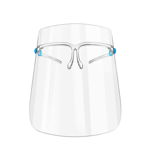 Face Shield with Glasses Frame.